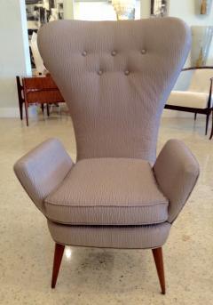Pair of Italian Modern High Back Chairs - 157908
