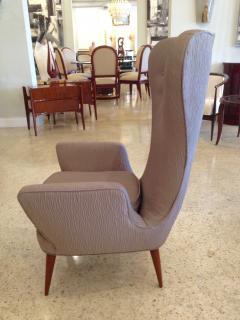 Pair of Italian Modern High Back Chairs - 157909