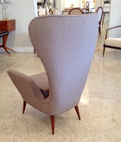 Pair of Italian Modern High Back Chairs - 157910