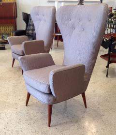 Pair of Italian Modern High Back Chairs - 157914
