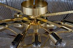 Pair of Italian Murano Glass Gold Leaves Modern Flush Mount or Ceiling Light - 1506922