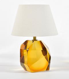 Pair of Italian Murano amber rock table lamps - 1219360