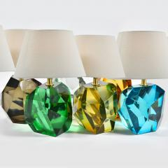 Pair of Italian Murano amber rock table lamps - 1219361