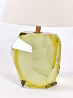 Pair of Italian Murano citrine rock table lamps - 1096167
