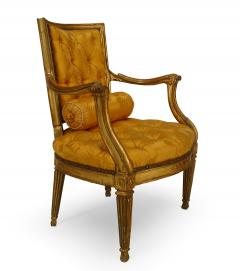 Pair of Italian Neo Classic Gold Arm Chairs - 1399900