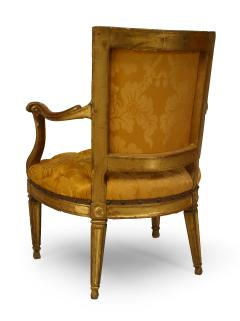 Pair of Italian Neo Classic Gold Arm Chairs - 1399903