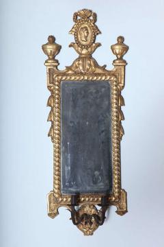 Pair of Italian Neoclassic Giltwood Girandole Mirrors - 358509