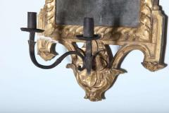 Pair of Italian Neoclassic Giltwood Girandole Mirrors - 358512