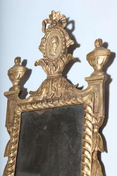 Pair of Italian Neoclassic Giltwood Girandole Mirrors - 358514