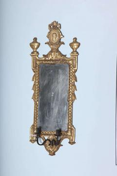 Pair of Italian Neoclassic Giltwood Girandole Mirrors - 358516