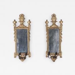 Pair of Italian Neoclassic Giltwood Girandole Mirrors - 363535