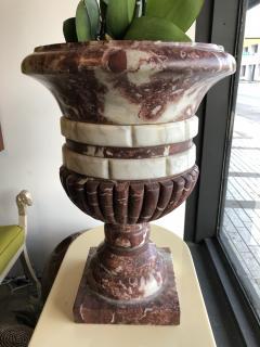 Pair of Italian Neoclassic Rosso Antico Carrara Marble Grand Tour Urns 19thC  - 1281206