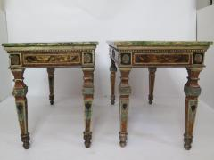 Pair of Italian Neoclassic Style Polychrome Painted Console Tables - 1912637