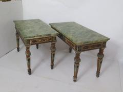 Pair of Italian Neoclassic Style Polychrome Painted Console Tables - 1912638