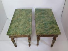 Pair of Italian Neoclassic Style Polychrome Painted Console Tables - 1912639