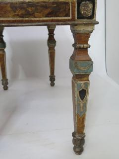 Pair of Italian Neoclassic Style Polychrome Painted Console Tables - 1912641