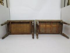 Pair of Italian Neoclassic Style Polychrome Painted Console Tables - 1912643