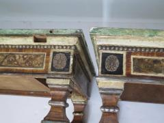 Pair of Italian Neoclassic Style Polychrome Painted Console Tables - 1912646