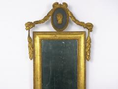 Pair of Italian Neoclassical Antique Giltwood Mirrors Looking Glasses 19th C  - 1091437