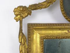 Pair of Italian Neoclassical Antique Giltwood Mirrors Looking Glasses 19th C  - 1091439