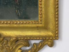 Pair of Italian Neoclassical Antique Giltwood Mirrors Looking Glasses 19th C  - 1091440