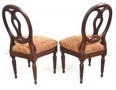 Pair of Italian Neoclassical Walnut Side Chairs - 1847591