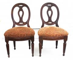 Pair of Italian Neoclassical Walnut Side Chairs - 1847592