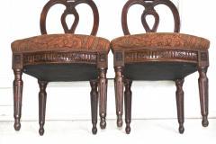 Pair of Italian Neoclassical Walnut Side Chairs - 1847594