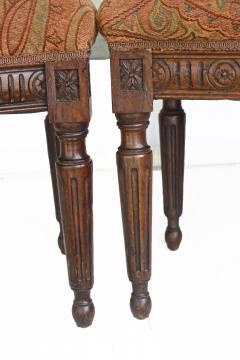 Pair of Italian Neoclassical Walnut Side Chairs - 1847595