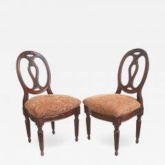 Pair of Italian Neoclassical Walnut Side Chairs - 1848439