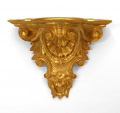 Pair of Italian Rococo Gilt Wall Shelves - 1379626