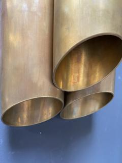 Pair of Italian Sconces Tubolari Full Brass 1940s - 2007826