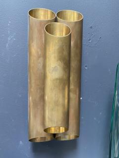 Pair of Italian Sconces Tubolari Full Brass 1940s - 2007829