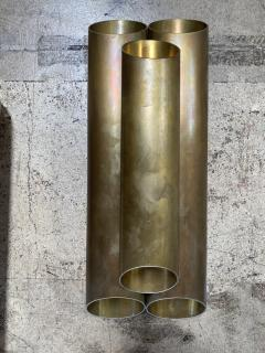 Pair of Italian Sconces Tubolari Full Brass 1940s - 2007830