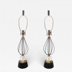 Pair of Italian Table Lamps With Crystal and Gold Accents - 1117670