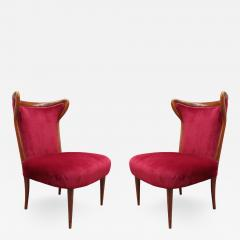 Pair of Italian mid century Pull Up Chairs - 1280276