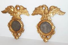 Pair of Italian neoclassic Giltwood Mirrors with Eagles Wings Outstretched - 1996286
