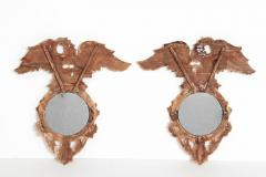 Pair of Italian neoclassic Giltwood Mirrors with Eagles Wings Outstretched - 1996292