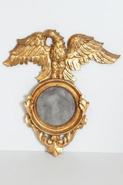 Pair of Italian neoclassic Giltwood Mirrors with Eagles Wings Outstretched - 1996295