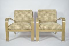 Pair of J Robert Scott Deco Lounge Chairs - 1239025