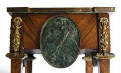 Pair of Kingwood bronze dor marble mounted side Louis XVI tables - 2042018