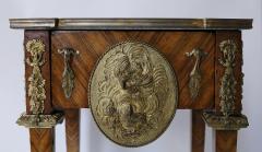 Pair of Kingwood bronze dor marble mounted side Louis XVI tables - 2042021