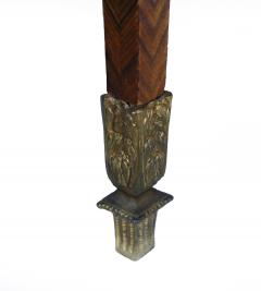 Pair of Kingwood bronze dor marble mounted side Louis XVI tables - 2042023