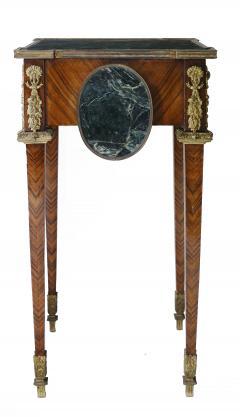Pair of Kingwood bronze dor marble mounted side Louis XVI tables - 2042030