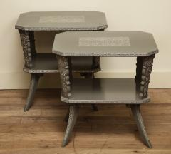 Pair of Lacquered Mexican Tables - 1027116