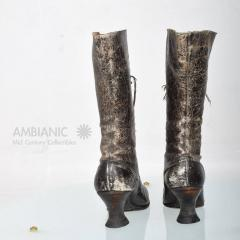 Pair of Ladies Victorian High Top Leather Boots - 365984