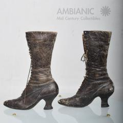 Pair of Ladies Victorian High Top Leather Boots - 365985