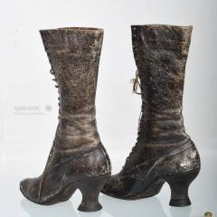 Pair of Ladies Victorian High Top Leather Boots - 365986
