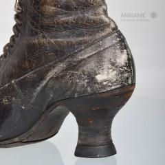 Pair of Ladies Victorian High Top Leather Boots - 365990