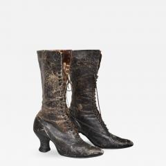 Pair of Ladies Victorian High Top Leather Boots - 367160